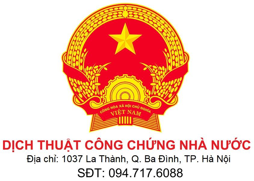 sao y bản chính dịch thuật công chứng nhà nước tại Hà Nội chứng thực bản sao