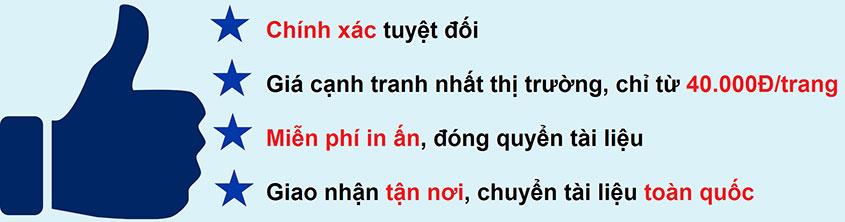 Dịch tiếng Anh chuyên ngành chất lượng cao tại Hà Nội