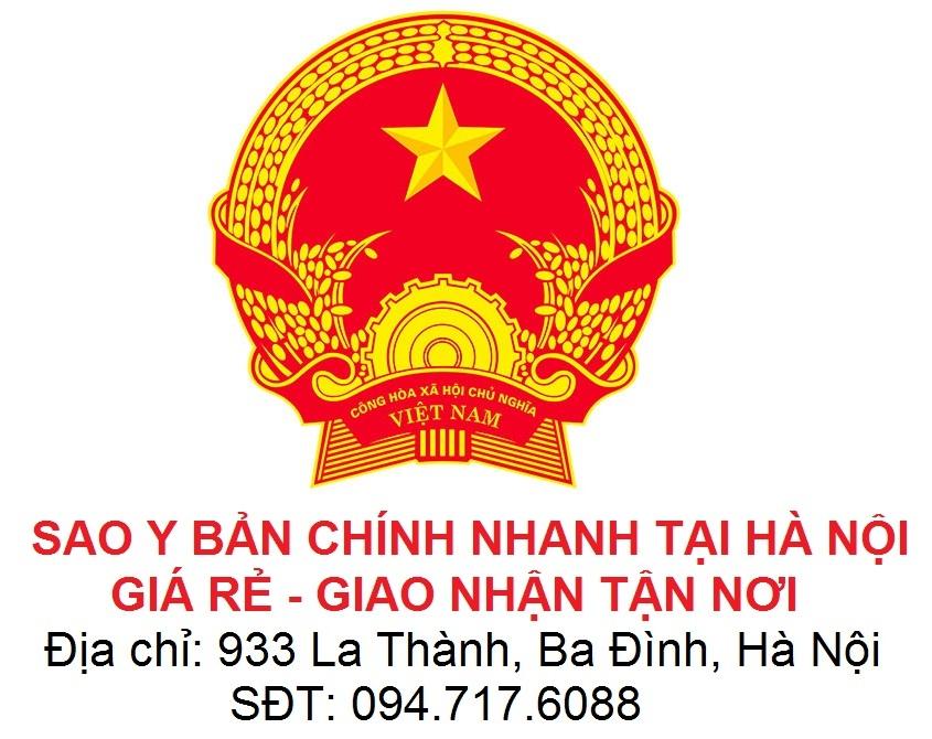 dịch vụ sao y bản chính nhanh tại Hà Nội