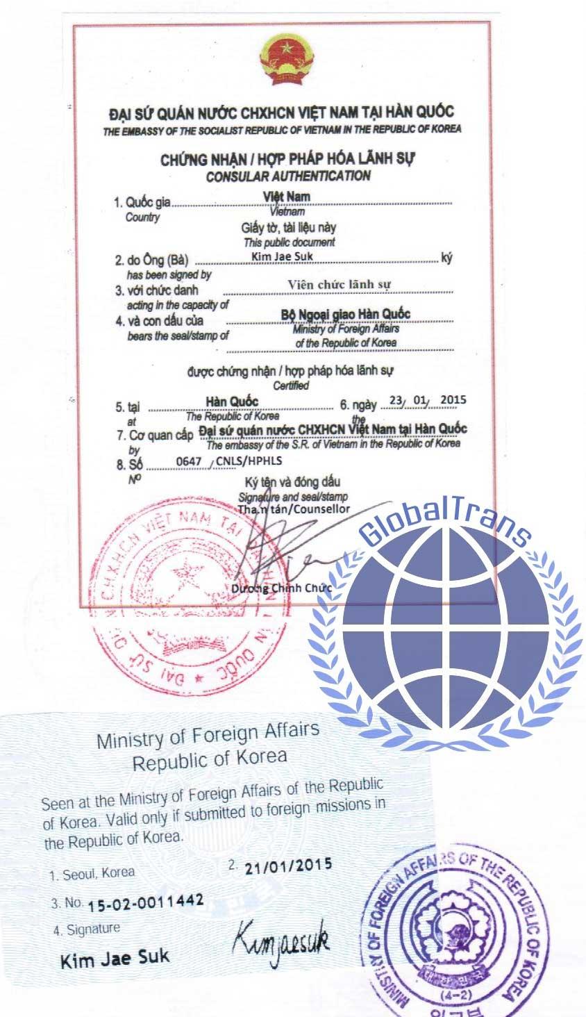 hợp pháp hóa lãnh sự nhanh tại Hà Nội